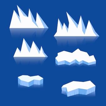 Koncepcja ilustracji kolekcji góry lodowej