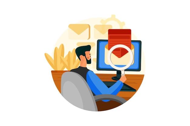 Koncepcja ilustracji marketingu cyfrowego