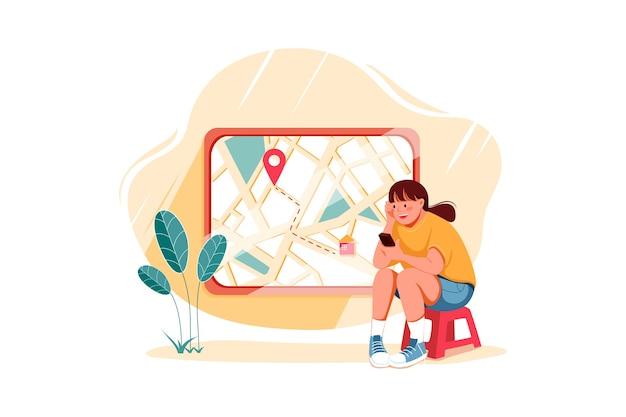 Koncepcja ilustracji monitorowania zamówienia