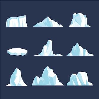 Koncepcja ilustracji opakowanie góry lodowej