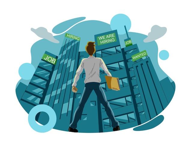 Koncepcja ilustracji osoby poszukującej pracy