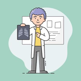 Koncepcja ilustracji personel medyczny