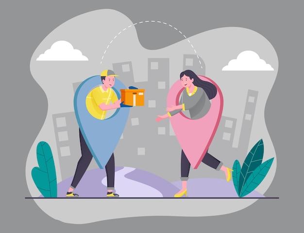 Koncepcja ilustracji płatności za pobraniem