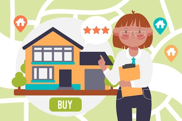 Koncepcja ilustracji pomocy nieruchomości