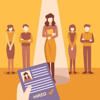 Koncepcja ilustracji rekrutacji