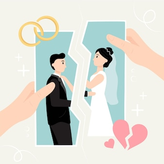 Koncepcja ilustracji rozwodu
