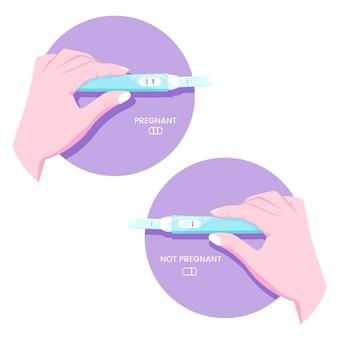 Koncepcja ilustracji testu ciążowego