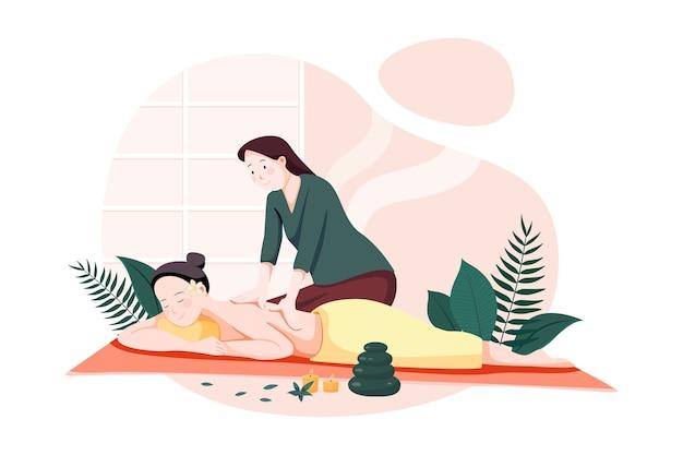 Koncepcja ilustracji wektorowych usługi masażu