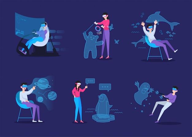Koncepcja ilustracji wirtualnej rzeczywistości