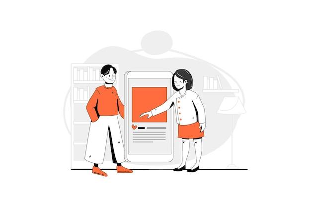 Koncepcja ilustracji współpracy