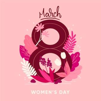 Koncepcja imprezy kwiatowy dzień kobiet