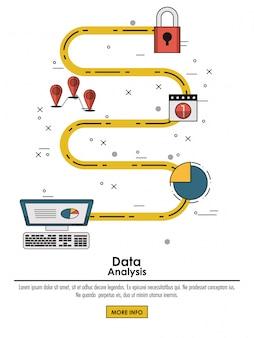 Koncepcja infografika analizy danych