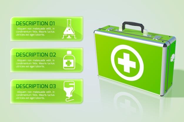 Koncepcja infografika opieki zdrowotnej