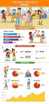 Koncepcja infografika technologii