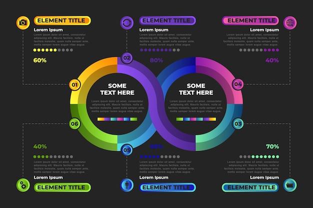 Koncepcja infografikę pętli nieskończoności