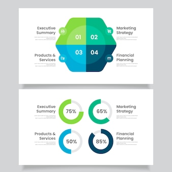 Koncepcja infografiki płaski biznes