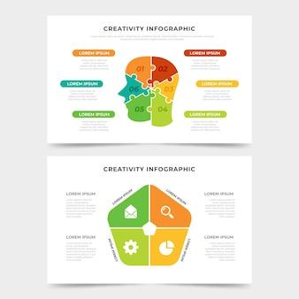Koncepcja infografiki płaskie kreatywność
