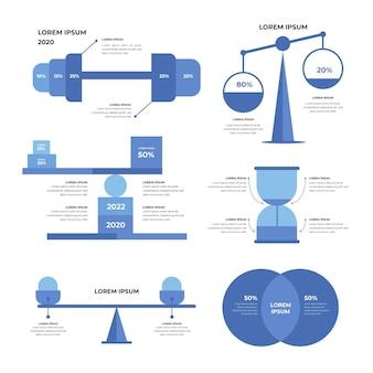 Koncepcja infografiki równowagi