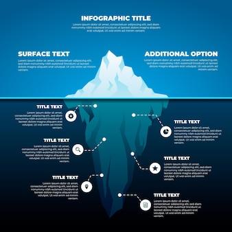 Koncepcja Infographic Góry Lodowej Premium Wektorów