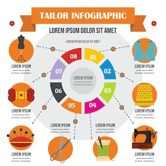 Koncepcja infographic krawiec.