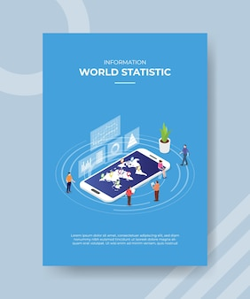 Koncepcja informacji statystyki świata dla szablonu.