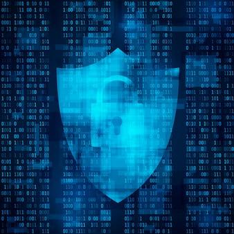 Koncepcja informacji szyfrowania. system zabezpieczeń internetowych. ochrona danych. tło wektor