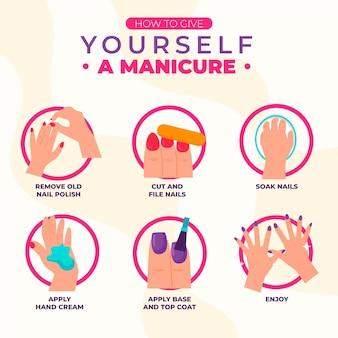 Koncepcja instrukcji do manicure