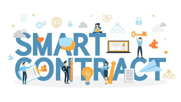 Koncepcja inteligentnego kontraktu.