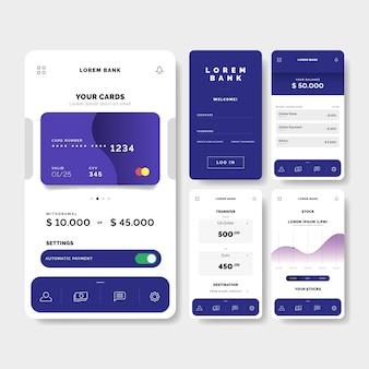 Koncepcja interfejsu aplikacji bankowej