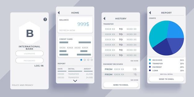 Koncepcja interfejsu aplikacji bankowości