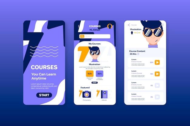 Koncepcja interfejsu aplikacji kursu