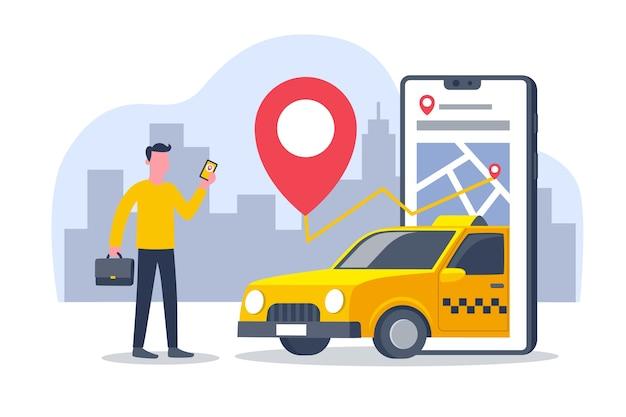 Koncepcja interfejsu aplikacji taxi