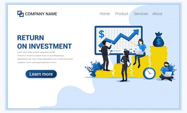 Koncepcja inwestycji biznesowych z ludźmi zarządzającymi mapy finansowej i inwestycyjnej na ekranie.