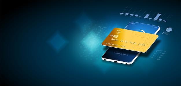 Koncepcja izometryczna z ikonami i tekstami makieta płatności za transfer technologii cyfrowej.