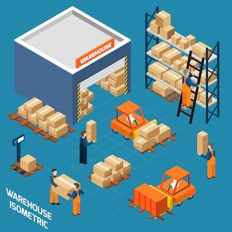 Koncepcja izometryczne warehouse concept