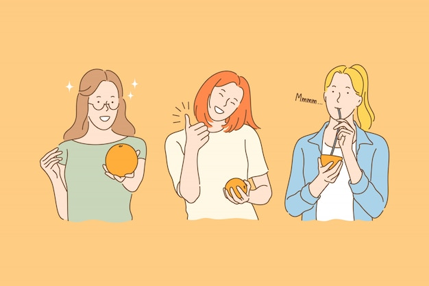 Koncepcja jedzenia owoców