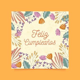 Koncepcja karta kwiatowy urodziny