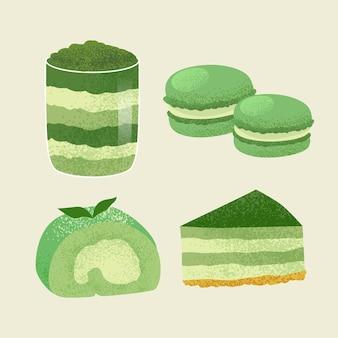 Koncepcja kolekcji deserów matcha