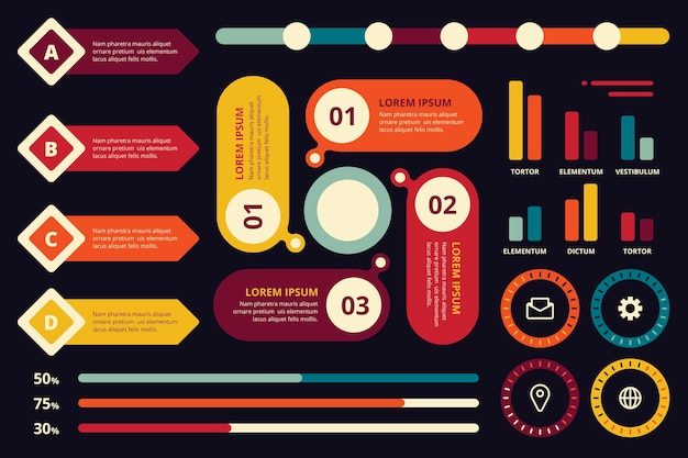 Koncepcja kolekcji elementu infographic