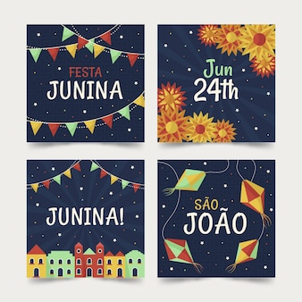 Koncepcja kolekcji kart festa junina