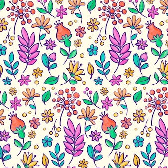 Koncepcja kolekcji kwiatowy wzór