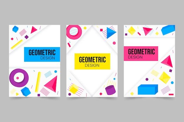 Koncepcja kolekcji streszczenie geometrycznej okładki