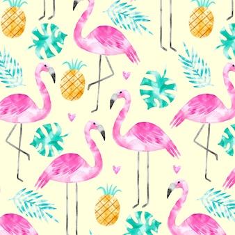 Koncepcja kolekcji wzór flamingo