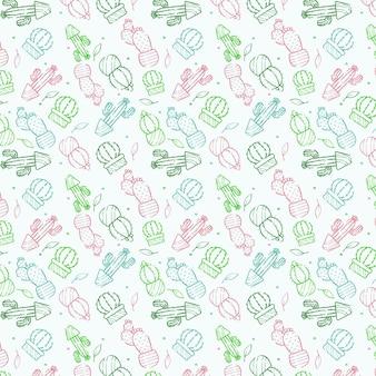 Koncepcja kolekcji wzór kaktusa