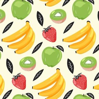 Koncepcja kolekcji wzór owoców