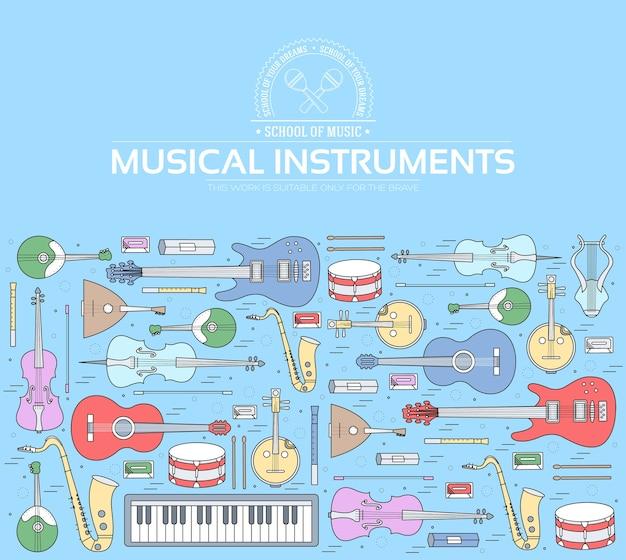 Koncepcja koło instrumentów muzycznych