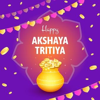 Koncepcja kolorowy akshaya tritiya