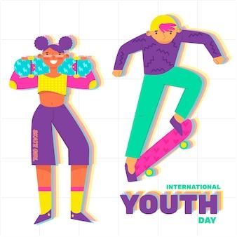 Koncepcja kolorowy dzień młodzieży