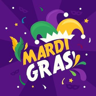 Koncepcja kolorowy mardi gras