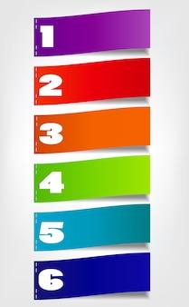 Koncepcja kolorowych banerów dla różnych projektów biznesowych. vec